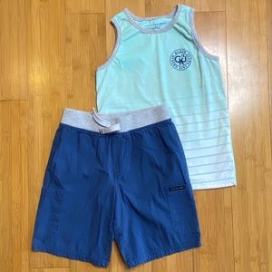 Calvin Klein Graphic Tank Top & Pull-On Shorts Set